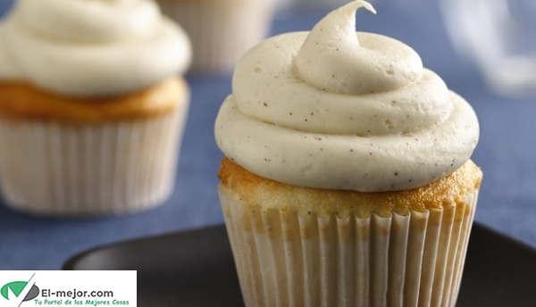 Cupcakes con Glaseado de Vainilla