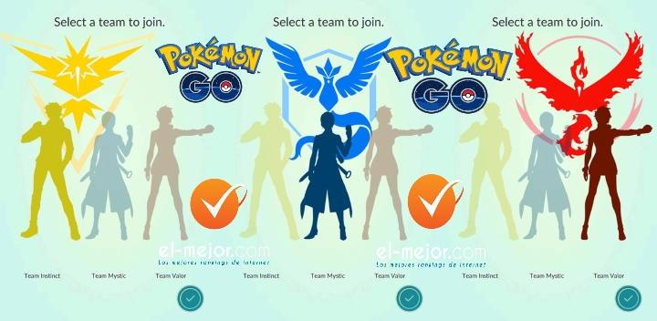 equipos pokemon go