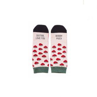 Regalo para hermana calcetines de fresas