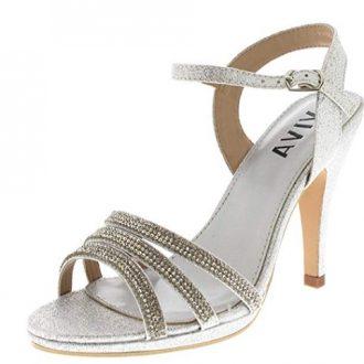 Zapatos de fiesta de plata Viva