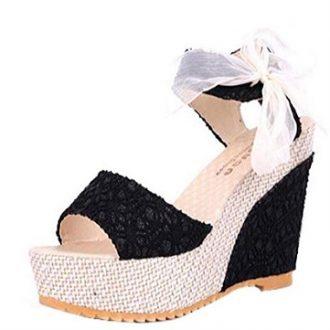 Zapatos de fiesta de plataforma Qinmm